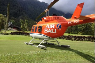Flying on Helicopter Air Bali