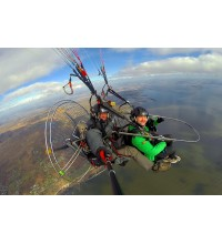 Flying on Paramotor Tandem