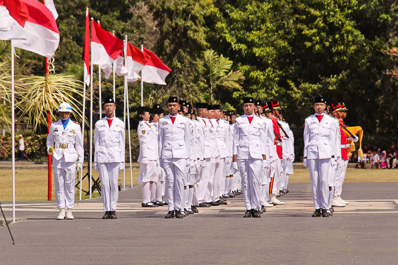 Indonesia Independence Day | Puputan | Military parade